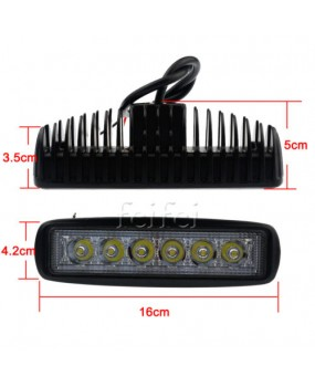 6inch 18W Spot LED Work Light Car Truck Boat Driving Fog Offroad SUV 4WD