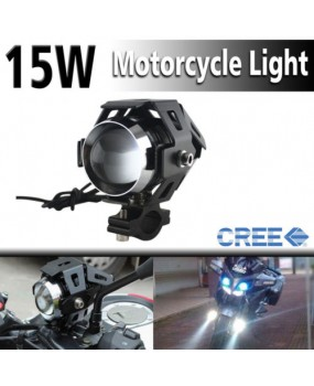 CREE 125W Moto U5 LED Driving Fog Spot Light Lamp Headlight For Harley Honda BMW