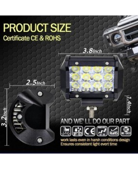 "36W LED Spot Offroad Driving Fog Lamps Work Light Bar Beam  SUV ATV 4WD 4"" IDEM"