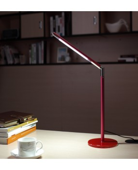 24 LED Desk Lamp Table Lighting Protect eyes Toughened Glass Base USB/AC 110V-240V Power