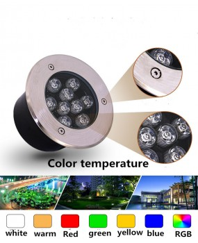 1W/3W/5W/6W/7W/9W/12W/15W/18W LED Outdoor Ground Garden Path Floor Underground Buried Yard Lamp Spot Landscape Light AC 85-265V IP67 Waterproof