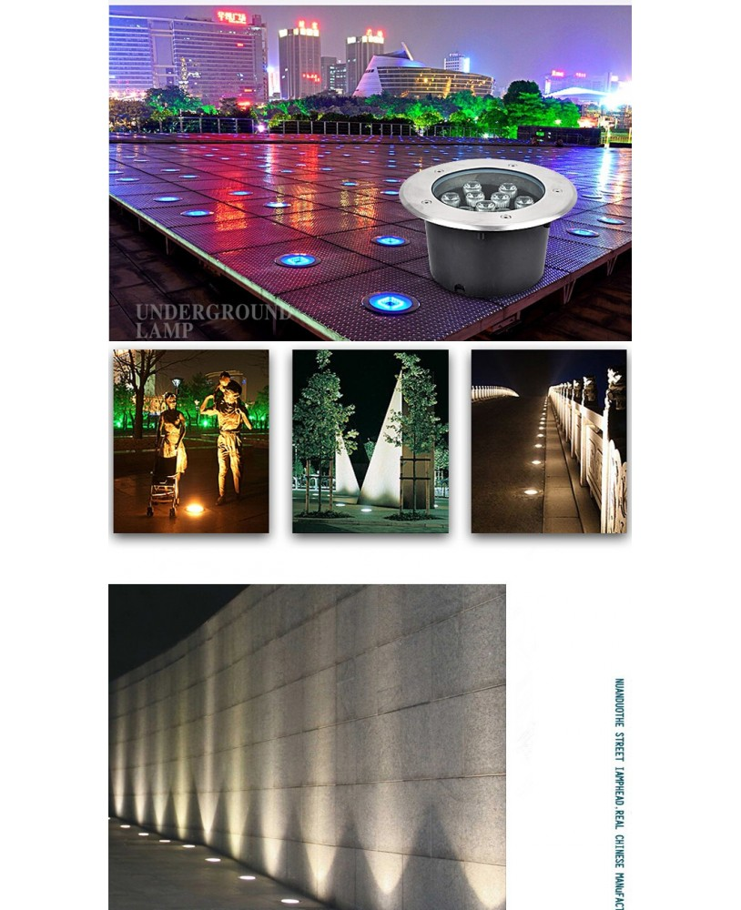 Led Underground Lamps Led Lamps Waterproof Led Underground Light 1w 5w 7w 9w 12w 15w 18w Ground Garden Path Floor Lamp Outdoor Buried Yard Lamp Landscape Light High Quality