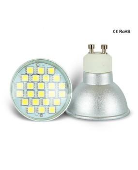24PCS 5050 SMD GU10 LED Spotlight Bulb Globes 220-240V 5W