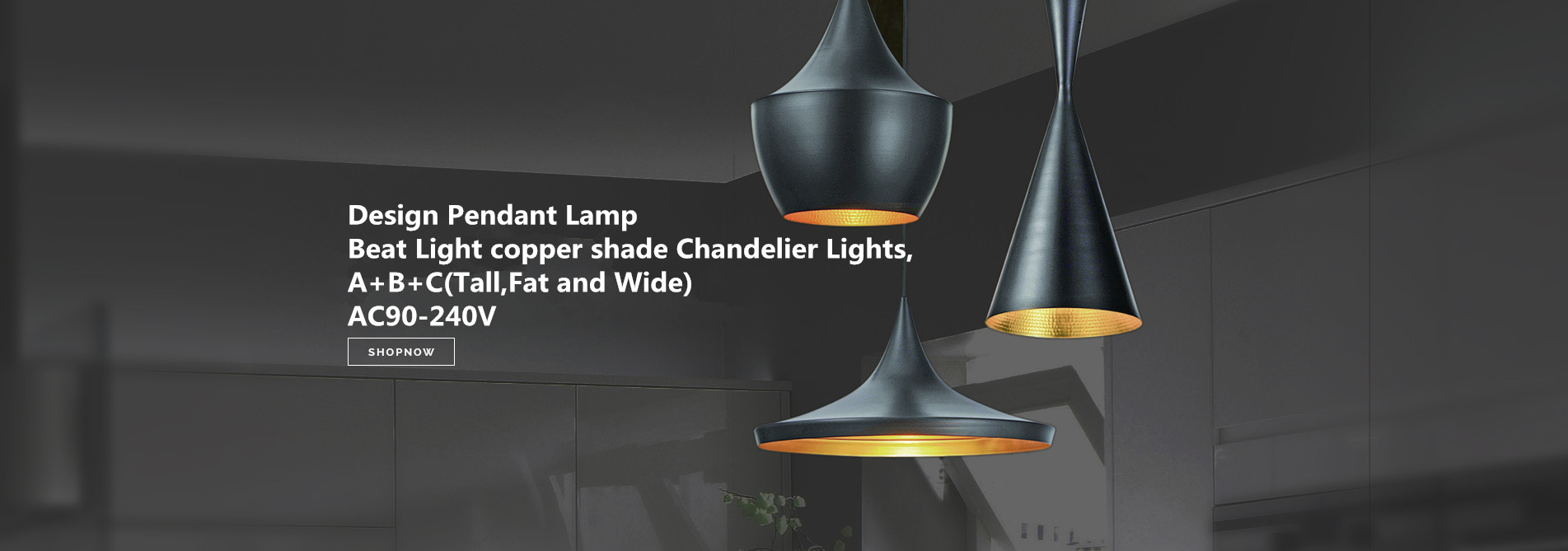 Design Pendant Lamp Beat Light copper shade Chandelier