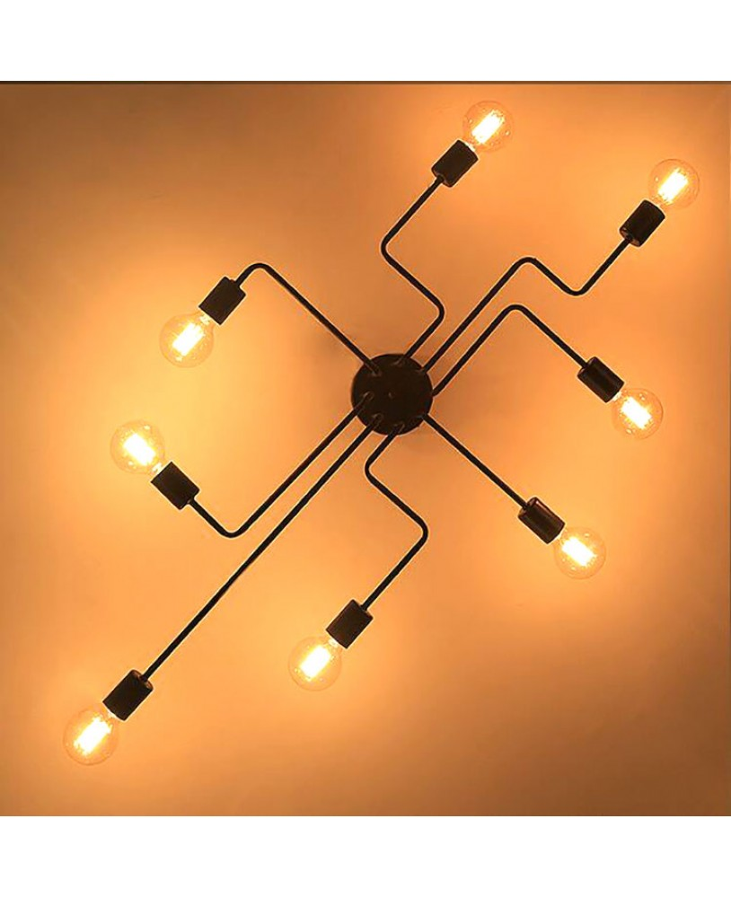 Ceiling Lights Vintage Lamps For Living Room Iluminacion Light Wrought Iron Luminaria E27 Bulb Home Lighting Fixtures