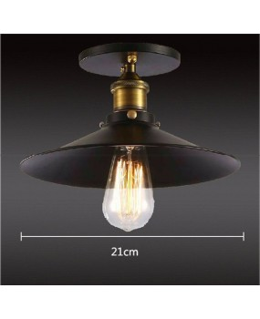 Loft Vintage Ceiling Lamp Round Retro Ceiling Light Industrial Design Edison Bulb Antique Lampshade Ambilight Lighting Fixture