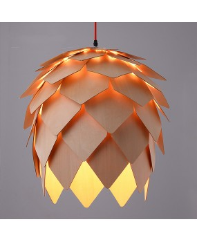 Pinecone Pendant Lamps Modern Wooden PH Artichoke DIY IQ Elements Jigsaw Puzzle Bedroom Art Wood Lamparas Light