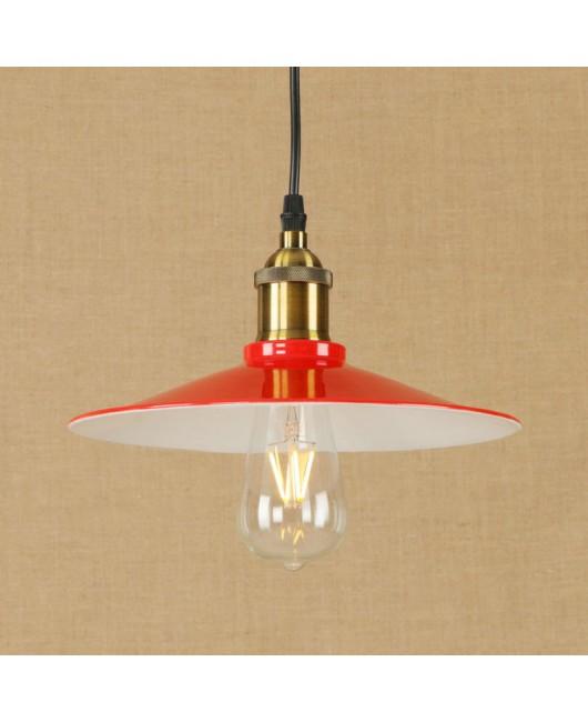 Loft Nordic American industrial pendant light Rustic warehouse Retro creative restaurant red pendant lamp