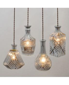 Modern Minimalist Vintage Wine Bottle Pendant Lights CafeRoom/Bar Lamp Single Glass Pendant Lamps Decoration Indoor Lighting E27