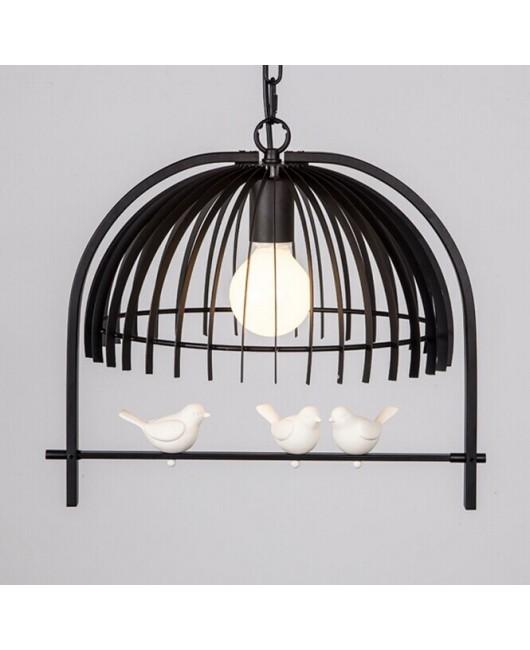 Creative Bedroom dining room restaurant corridor Children's room lamp personality bird cage Chandelier