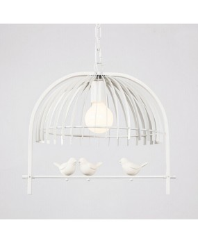 Creative Bedroom dining room restaurant corridor Children's room lamp personality bird cage Chandelier