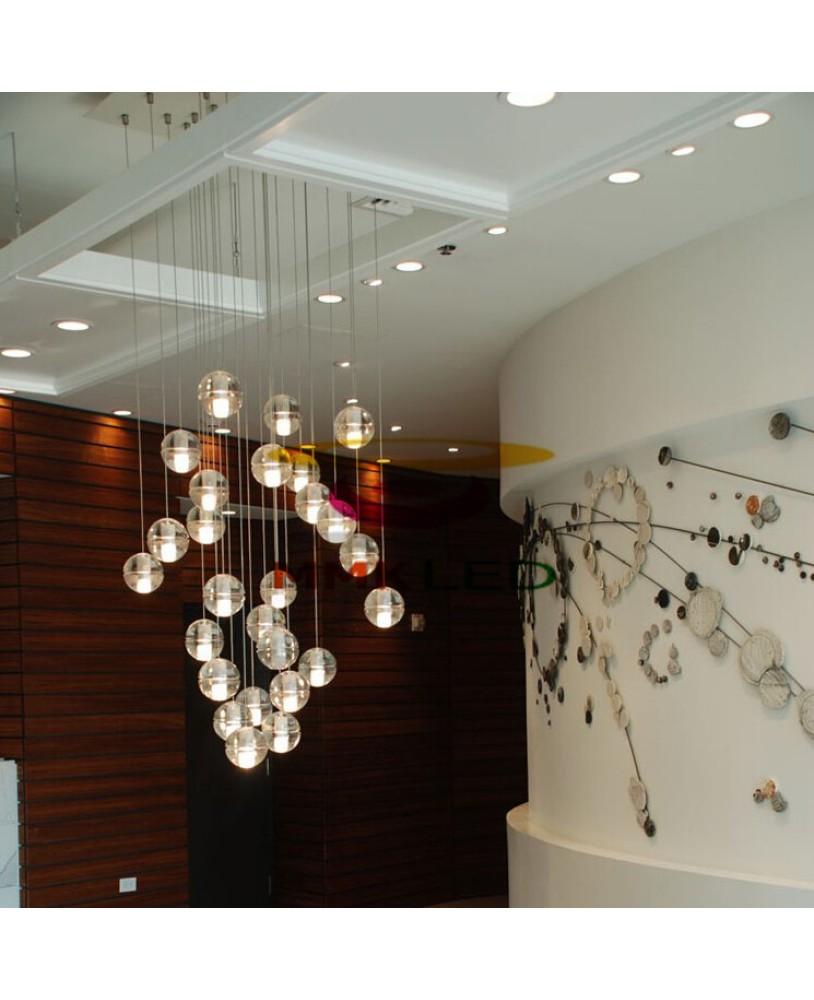 Bocci Led Meteor Shower Crystal Ball Chandelier Modern Stair Pendant Lamp