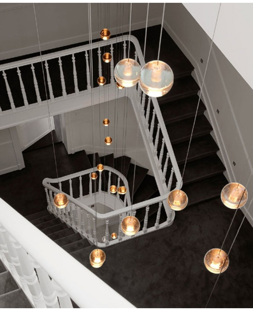 Bocci led meteor shower crystal ball chandelier modern stair pendant bocci led meteor shower crystal ball chandelier stair pendant lamp arubaitofo Images