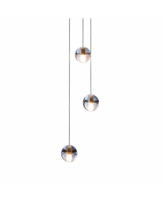 Bocci LED meteor shower crystal ball chandelier stair pendant lamp