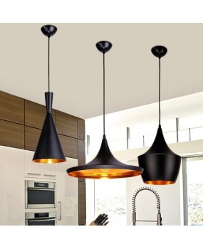 Tom dixon pendant lamp Beat Light Ceiling Pendant Light Lamp Shade copper Lampshade Black/White/Red