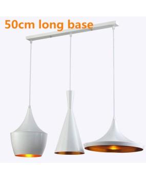 Tom dixon pendant lamp Beat Light copper shade ,A+B+C+long base