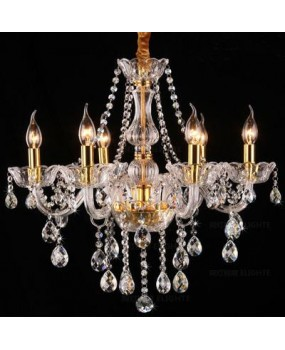 Modern Crystal Chandelier Living Room 6 Arm Pendants and Chandeliers Home Lighting