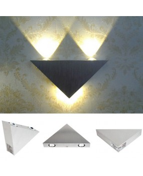 Led Wall Lamp 3W Aluminum Triangle Wall Light For Bedroom Home Lighting Luminaire Bathroom Light Fixture