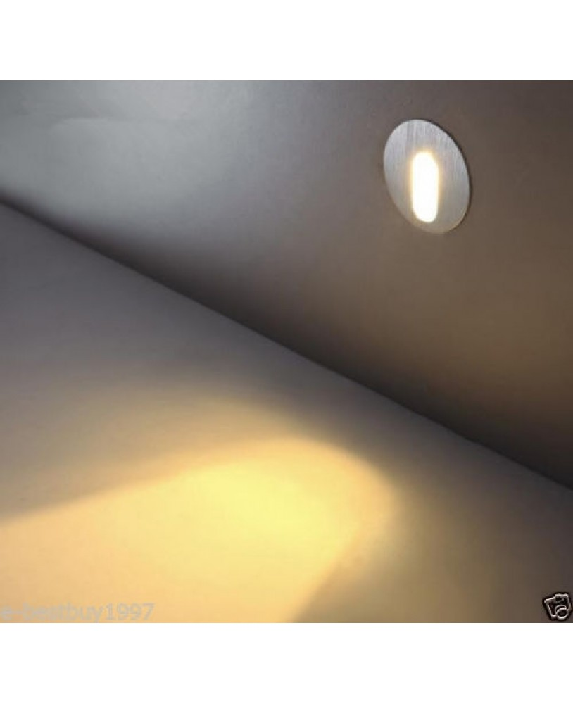 1w Led Lampe Murale Spot Circulaire Encastrable Coin Mur Escalier
