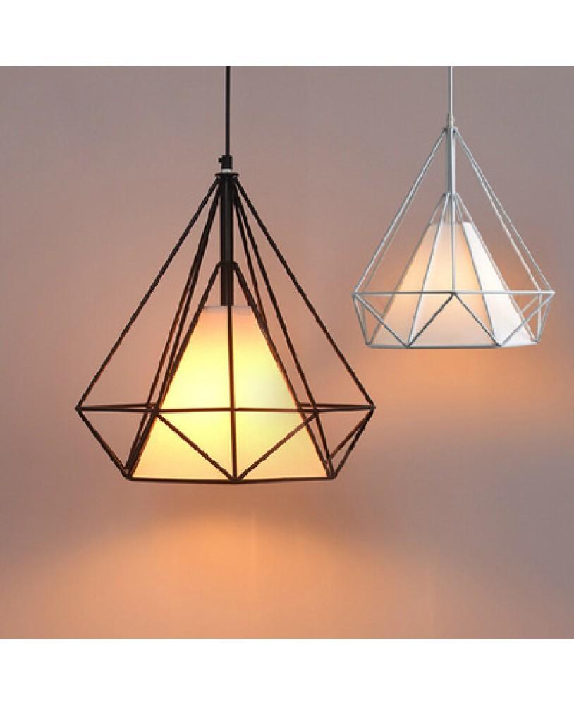 Art Iron Diamond Pendant Lights Birdcage Ceiling Lamps Home Decorative Light Fixture Creative Restaurant
