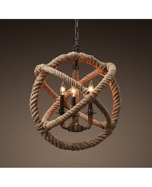 Rope Pendant Lights Loft Vintage Lamp